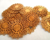 Vintage Beads - Copper Filigree Stampings