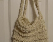 Knit Mesh Bag Ivory Sparkle