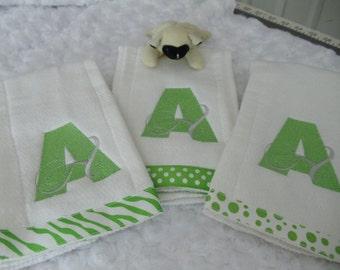 Baby Burp Cloth Bellissima Font Trio