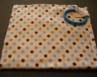 Monkey Dots Burp Pad Fringe Burp Rag Feeding Cloth
