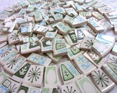 Retro ATOMIC Taylor Smith Cathay MOSAIC China Broken Tiles - 125 Tiles