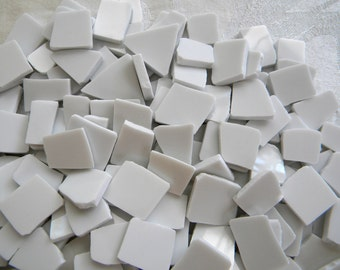 Broken China MOSAIC Tiles - White Filler Tiles- 200 Tiles