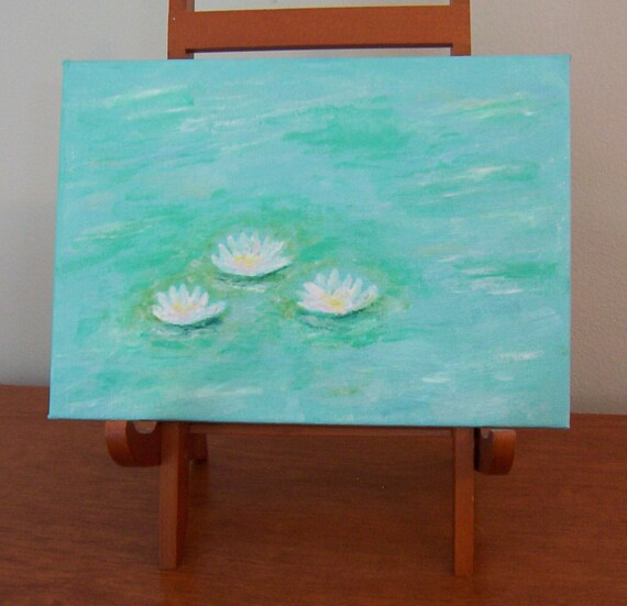 Waterlillies Oil Painting - MONET Style - 5 X 7