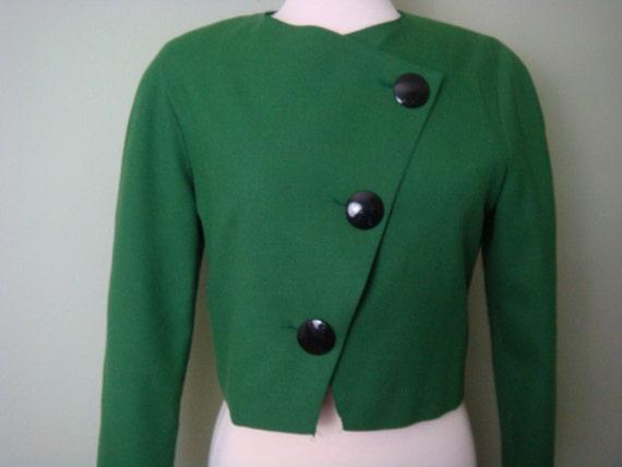 Vintage Jacket Green Howard Wolf Emerald Green Jacket Cocktail Jacket Wool Evening Jacket Casual Jacket Vintage Blazer