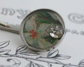Handmade Bobby Pin with Victorian Style Floral Motive