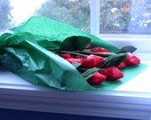 A Dozen Rosebuds with Chocolate Kisses