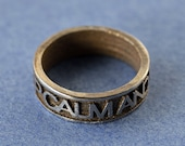 "3D Printed Stainless Steel ring ""Keep calm and carry on"""