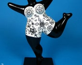 Colourfully painted NANA sculpture - freely based on the Nanas by Niki de Saint Phalle / height 7 inch