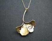 Gold Gingko Leaf Necklace