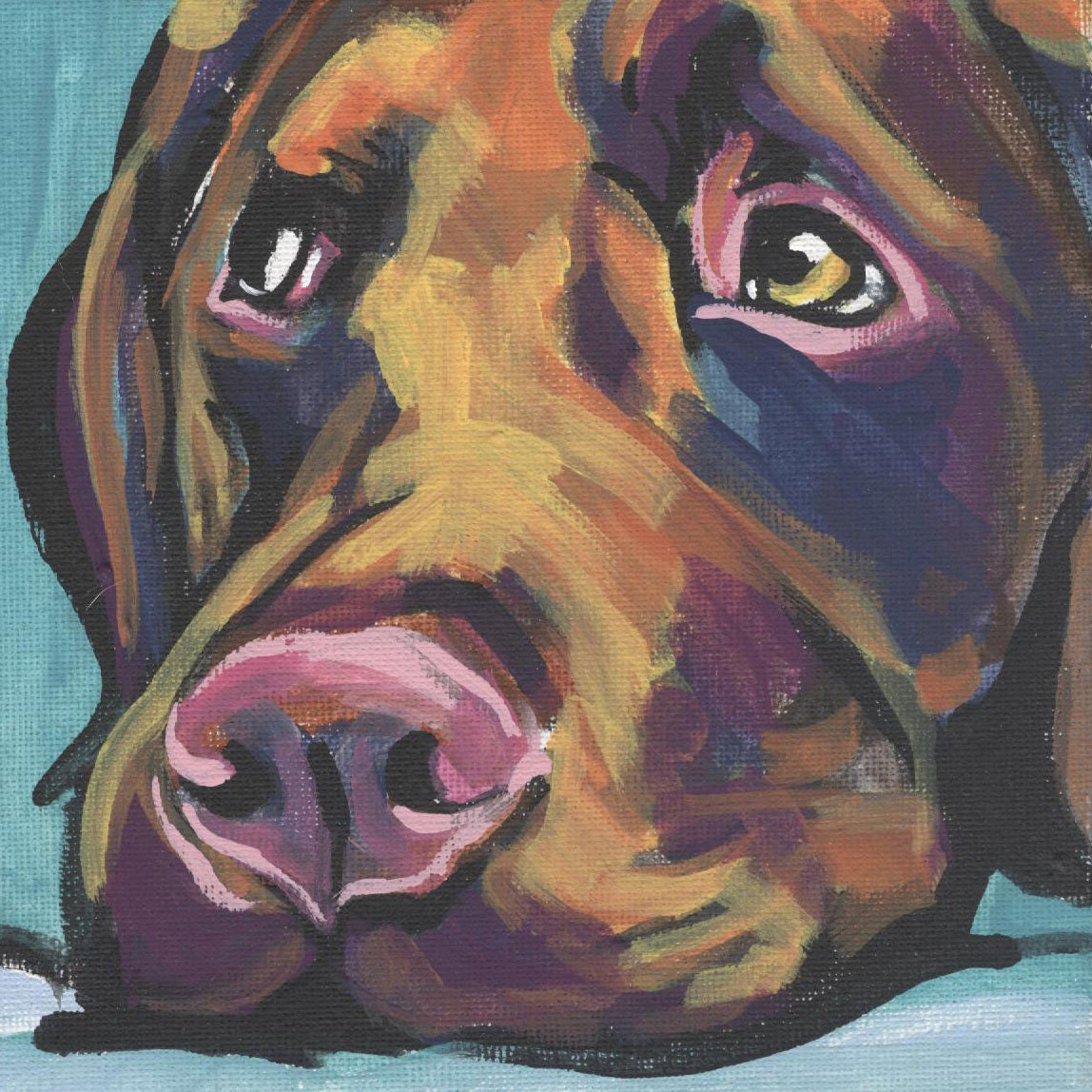 Labrador Retriever Art Print Modern Dog Art Print Chocolate