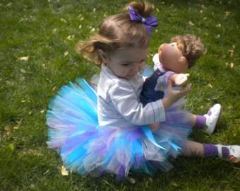 Turquoise Purple Pink Tutu, Blue Pink Purple Tutu, Birthday Party, Smash Cake Photo Shoot, Baby Shower Gift, Halloween Costume Multicolor
