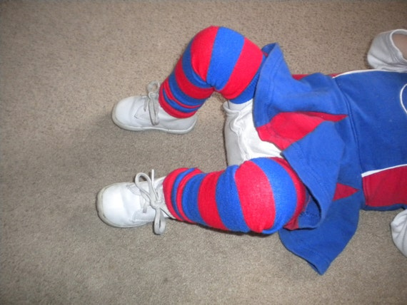 Legwarmers for baby or toddler, Chicago Cubs/Patriots Colors Red and Blue 4th of July READY TO SHIP