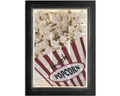 Fresh Popcorn at The Movies - printed on a Vintage Dictionary Paper - 8x10.5