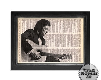"Shop ""johnny cash"" in Mixed Media & Collage"
