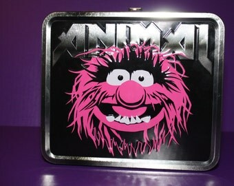 Altered metal lunch box Muppets Animal Purse