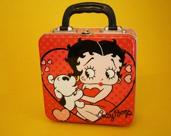 Altered metal lunch box Betty Boop Purse