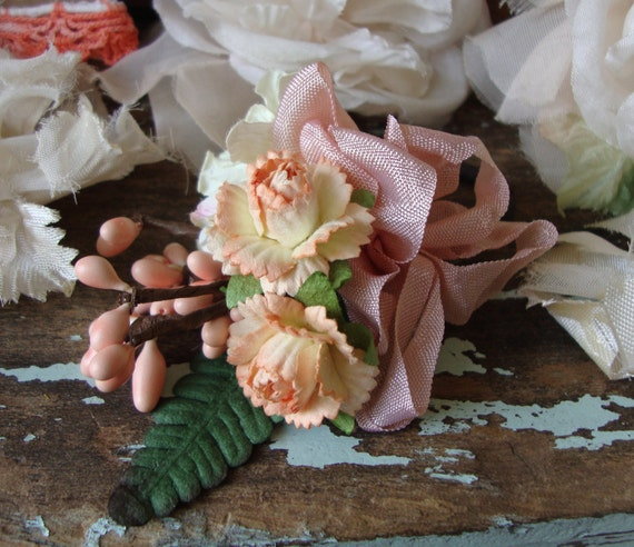 Peaches and Cream Vintage Millinery Inspiration Kit