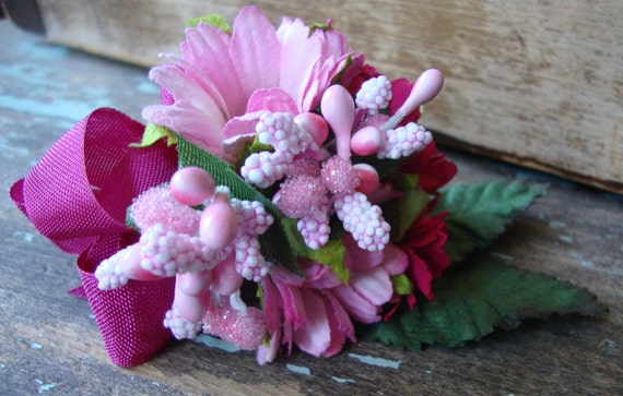 Summer Berry Millinery Bouquet Boutonniere Posy Corsage