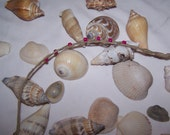 Natural Hemp Braided Wish Bracelet With Bright Pink Beads    Ties on