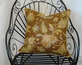 Pillow Cover - Carole Fabrics GARNISH in MOCHA - 20x20