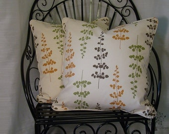 """WAVERLY FLOATING PETALS in Harvest - Pillow Cover - 20"""" x 20"""""""