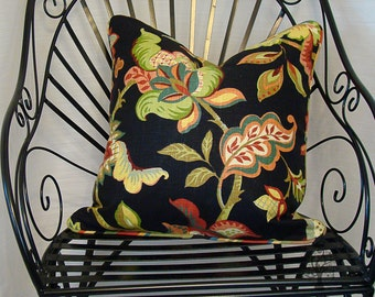 """RICHLOOM KATHERINE in LICORICE - Pillow Cover - 20"""" x 20"""""""