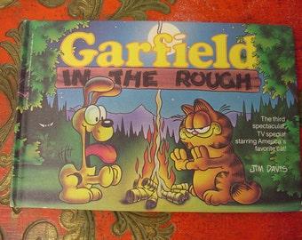 Vintage 80s GARFIELD Book 1st edition Hardback ..Near Mint .. 1984 by Jim Davis..Cartoon..Cat