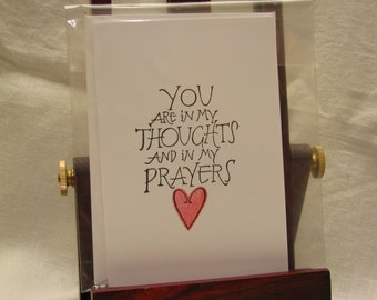 In My Thoughts and Prayers, Sympathy Card by M Blanchard Designs
