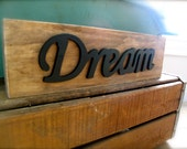 Wood word sign - Dream