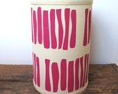 SALE - Pink Hand Printed Lamp Shade