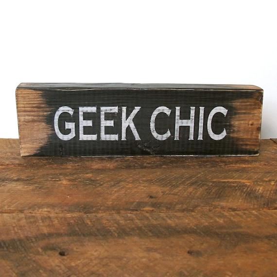 Wood Word Sign - Geek Chic