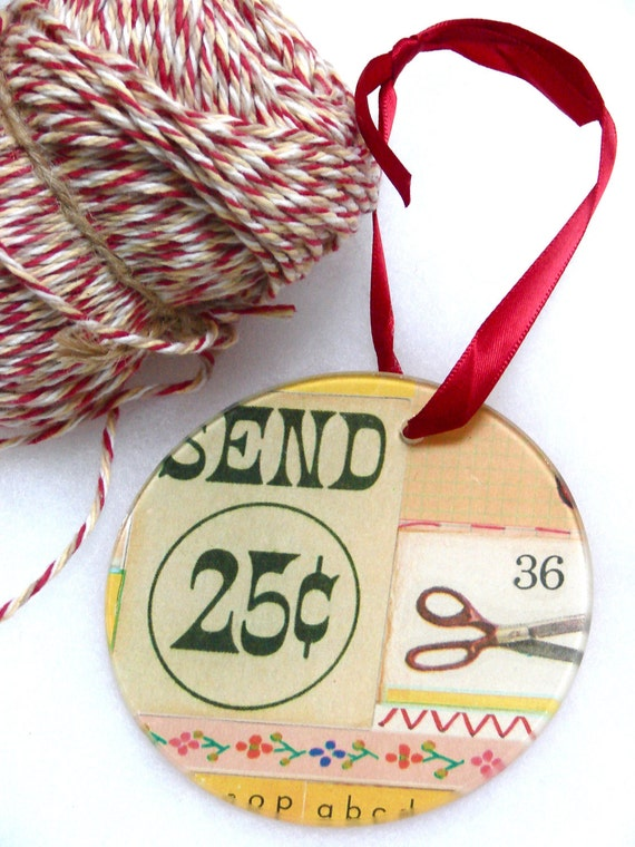 25 Cent Schoolhouse Ornament