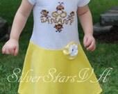 SALE Toddler Dress - Go Bananas T-Dress, Size 2-3