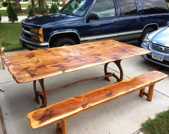 8ft barn wood dining table