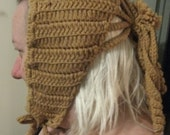 Made in 1972 by MY Granny this awesome knitted hat looks good on Big Girls Too ONLY 4USD