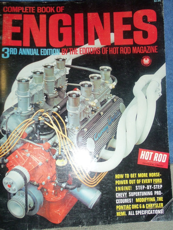 Hot Rod Magazines 3rd Annual Edition Complete book of Engines, Great Gift for Motor Heads & Car enthusiasts See Pics NOW 6USD