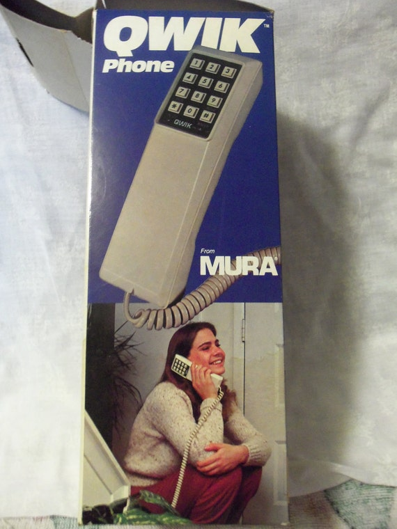 1970s Mura Kwik Phone Still New in Original Box has Wall Mount and Touch tone or Rotary Dial Button Only 16 USD