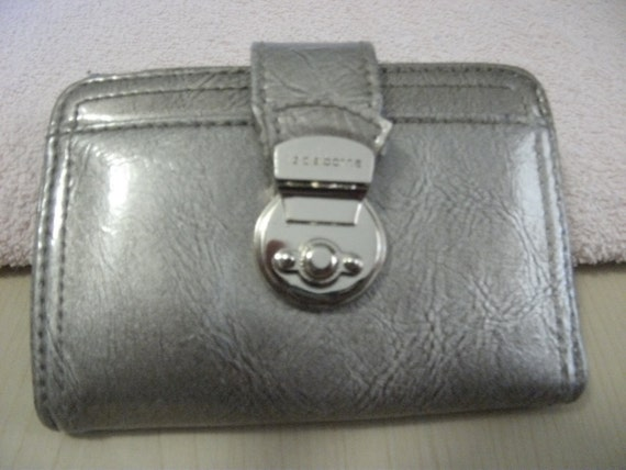 Private listing for Salisa Vintage Liz Claiborne Silver Gray Wallet with Silver Snap Clasp and Coin Change Purse Only 4 USD
