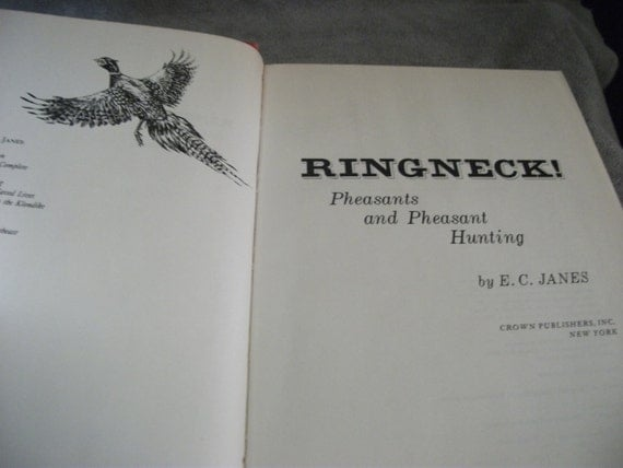 "SAlE 20% Off Vintage Hunting Book ""Ringneck Pheasants and Pheasant Hunting"" Now 2.40 USD"