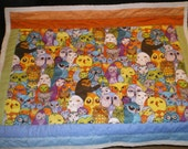 Owl in the Family Quilted Stroller Blanket - Multicolor