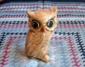 Little Brown Owl -- Retro, 70s, Garden Kitsch, Ceramic