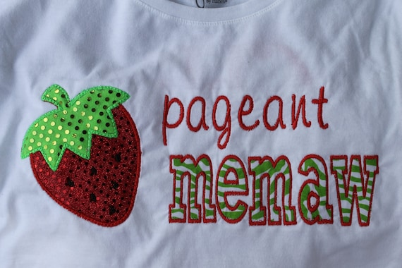 Sparkle dot Strawberry Pageant  Memaw, Grandma, Grammy, etc. Shirt