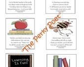 Cardmaking Kit - Notes to Teacher, School, Student, Printable, Digital Copy, Cute - PDF Form, BUY 2 PDFs, get 1 FREE
