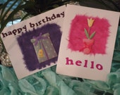 "Card Set - Birthday, Hello, Thinking of You, Cute, Set of 2 by ""The Perky Poet"""