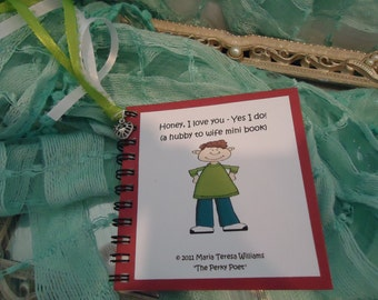 "Wife Gift - I Love You - U Personalize Mini Book - Hubby to Wife, Husband by ""The Perky Poet"""