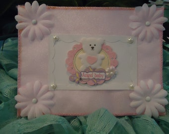"""Baby Girl Card - Cute Angel Baby, Infant, Newborn by """"The Perky Poet"""""""