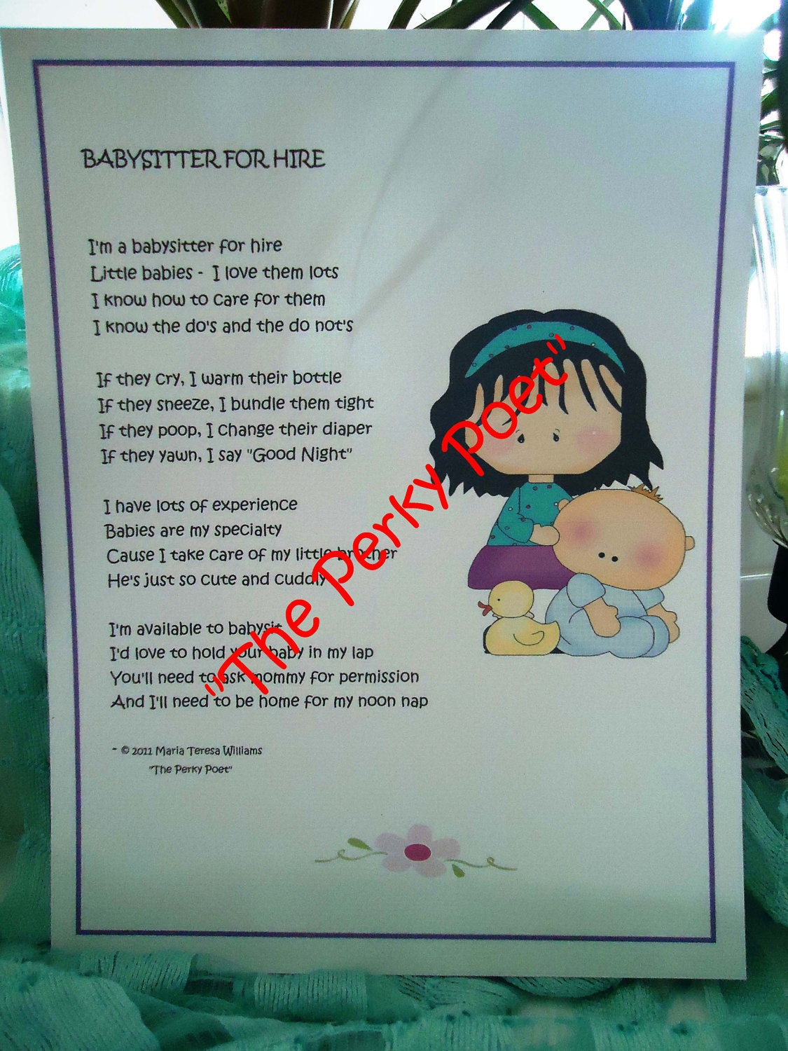 babysitter for hire poem cute funny by the perky 🔎zoom