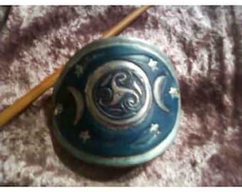 Triple Moon Stick Barette
