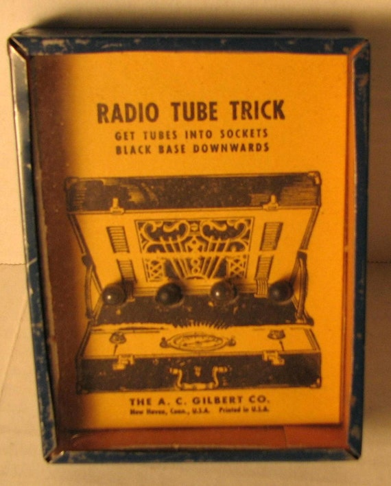 AC GILBERT Dexterity Puzzle Game- Radio Tube Trick---1940's