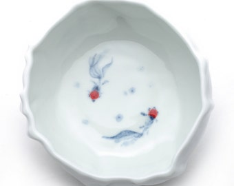 Goldfish porcelain bowl
